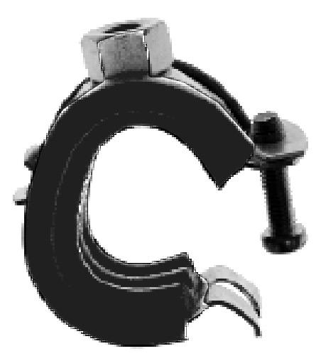 Praktic-Gelenkrohrschelle/ Kippschraube/ Schallschutzeinlage