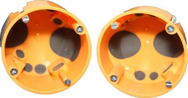 Hohlwand-Gerätedosen mit Durchstoßmembran, winddicht
