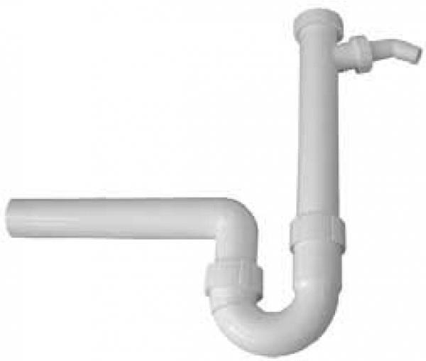 Spülensifon weiß mit Geräteanschluss
