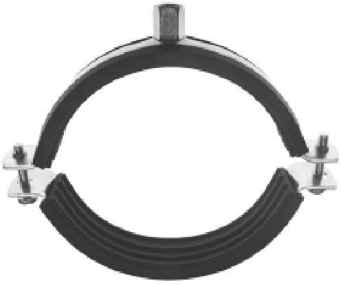 Schraub-Hochtemperaturrohrschelle mit Schallschutzeinlage