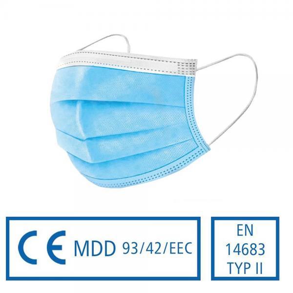 Medizinischer Mund- und Nasenschutz - Typ II, 50 Stück