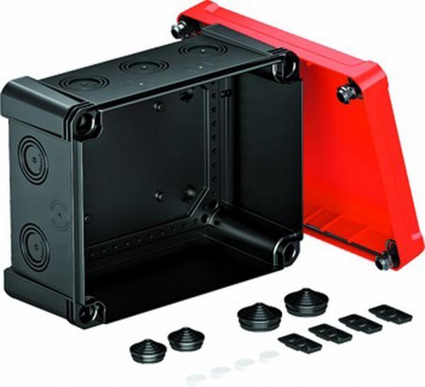 Kabelabzweigkasten X16 SW-RO, 240x191x125, schwarz/rot, 1 Stück