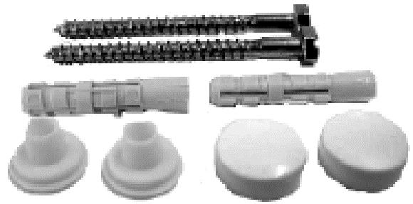 WC - Befestigungen / Stahl verzinkt