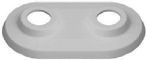 Abdeckrosetten doppelt, Abstand 50 mm