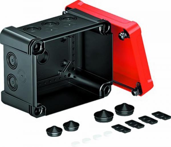 Kabelabzweigkasten X10 SW-RO, 190x150x125, schwarz / rot , 1 Stück