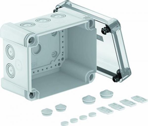 Kabelabzweigkasten X10 LGR-TR, 190x150x125, grau / transparent , 1 Stück