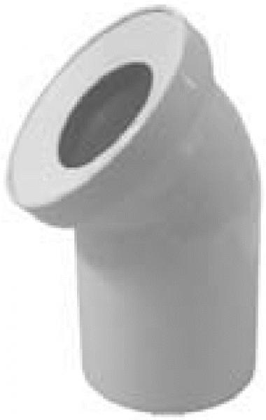 WC-Anschlussbogen DN 100, 45°